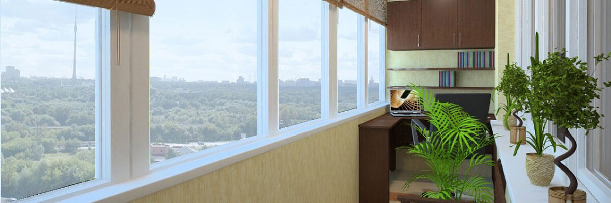 Балконные рамы из ПВХ и алюминия